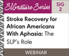 Stroke Recovery for African Americans With Aphasia: The SLP's Role (SIG 2) (On Demand Webinar)