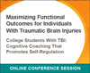 College Students With TBI: Cognitive Coaching That Promotes Self-Regulation