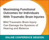 Mild Traumatic Brain Injury Can Damage the Systems of Hearing and Balance